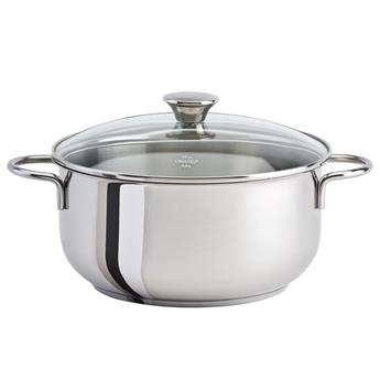 COOKWAY Master Faitout Inox Couvercle verre cerclé inox by CRISTEL