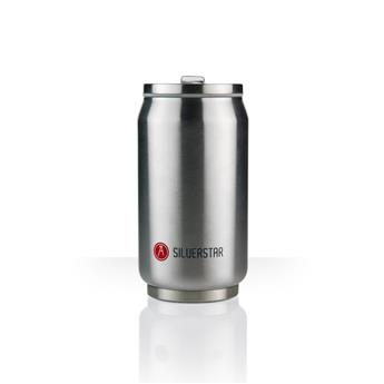 Can´it Mug isotherme canette 280 ml LES ARTISTES Inox