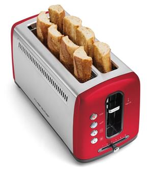Grille pain électique Toaster Inox 2 fentes Extra-Longues Riviera&Bar Rouge