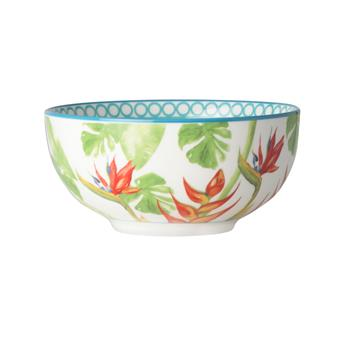 PARADISO Coupelle Porcelaine Décor tropical D12.5  -Les 4