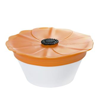 Couvercle en silicone étirable Poppy Pop Charles VIANCIN  Orange Tangerine D23