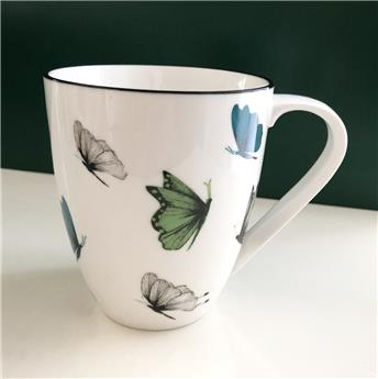SANCTUARY Mug Porcelaine Décor Papillons 50 cl Couleur SC