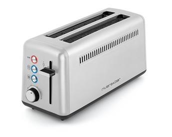 Grille pain électique Toaster Inox 2 fentes Extra-Longues Riviera&Bar Inox