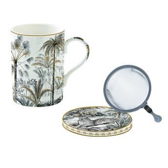 ATMOSPHERE Coffret mugs Tisanière porcelaine Retro Jungle