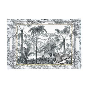 ATMOSPHERE Plateau de service rectangle mélamine 49 x 34 Retro Jungle
