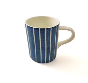 BLUE BREEZE Mug 37 cl Porcelaine Easy Life Bleu